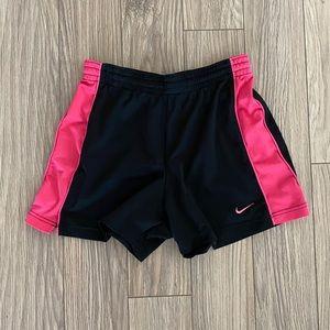Nike Black and Pink Shorts